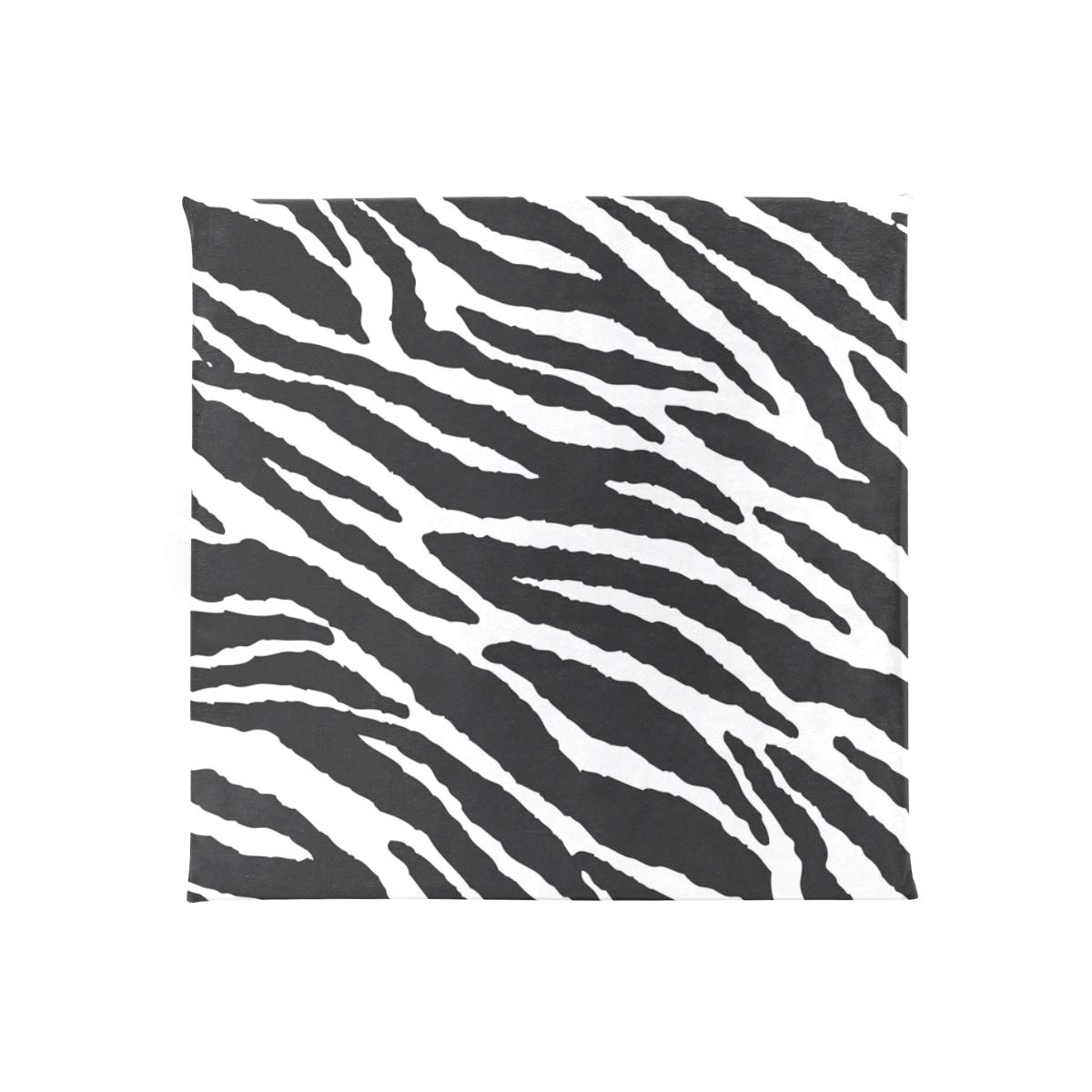 TSWEETHOME Comfort Memory Foam Square Chair Cushion Seat Cushion with Animal Skins Zebra Print Chair Pads for Floors Dining Office Chairs by TSWEETHOME (Image #2)
