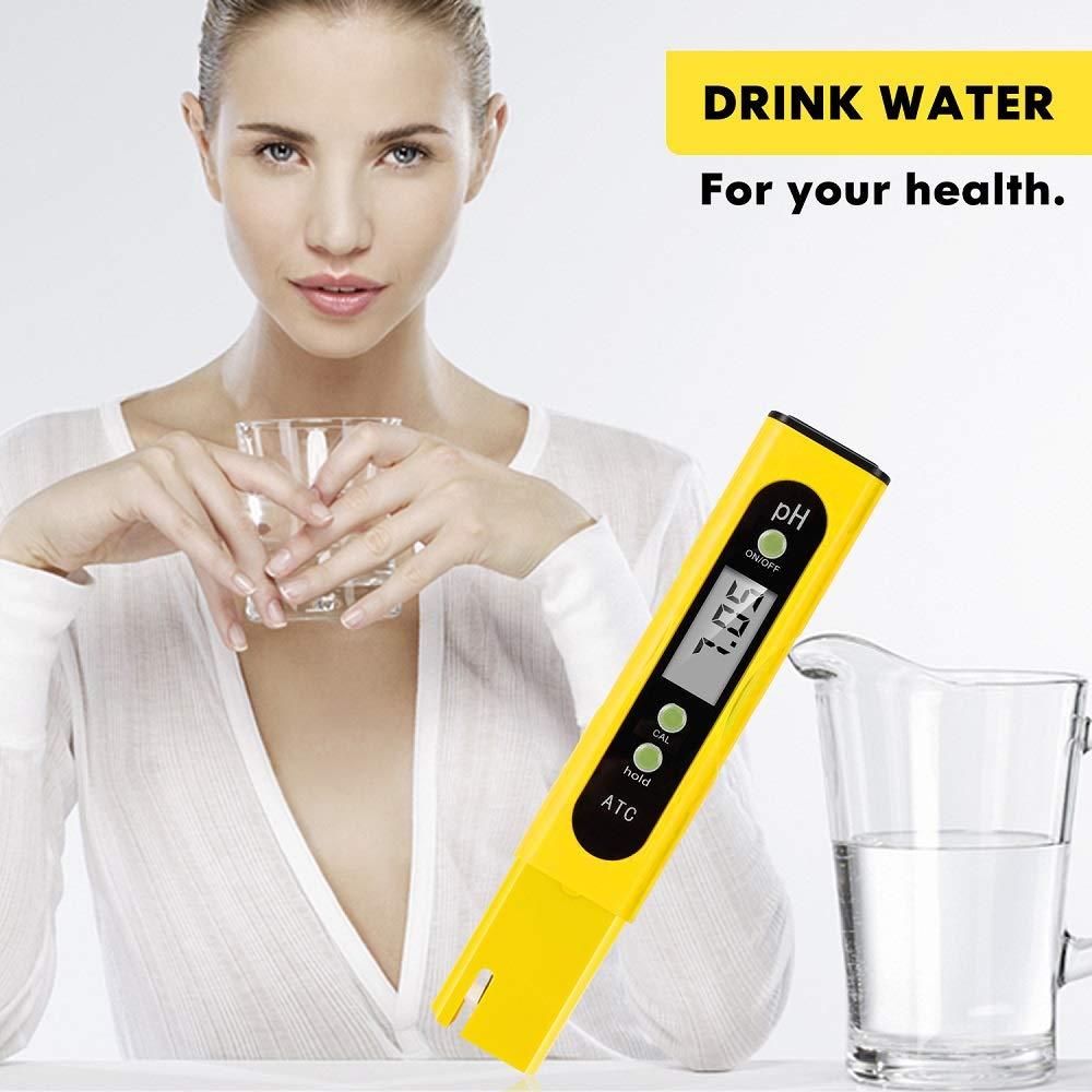 Digital pH Meter and TDS Meter Digital Combo pH//TDS//EC//Temp 4 in 1 Water Testers for Drinking Water,Hydroponics,Pools 0.01 Hight Accuracy pH Meter 0-9990 Measurement Rang ppm Meter