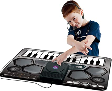 ROCK1ON Alfombra para DJ Musica, Alfombra de Piano,Musical ...