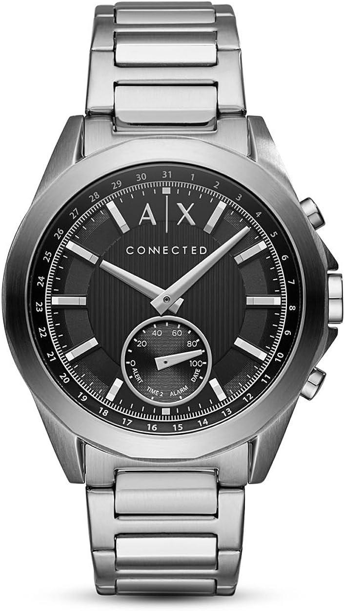Armani Exchange Reloj Analógico para Hombre de Cuarzo con Correa en Acero Inoxidable AXT1006