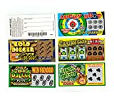 5 PHONY FAKE ALL WINNING SCRATCH OFF LOTTERY TICKETS -JOKE- PRANK- GAG