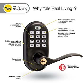 yale real living yrl 210 zw 0bp real living electronic push button