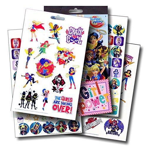 DC Comics Super Hero Girls Fun Set Superhero Girls Stickers & Superhero Girls Tattoos & Specialty PopArt (Dc Comics Bumblebee)