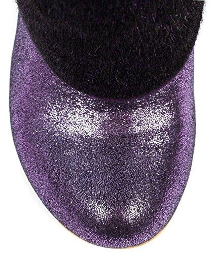 Irregular Choice Love Means Violet Femmes Hi Talons Chaussures Bottes