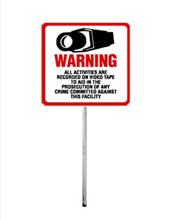Amazon.com: Seguridad señal – # 204 Vigilancia de la ...