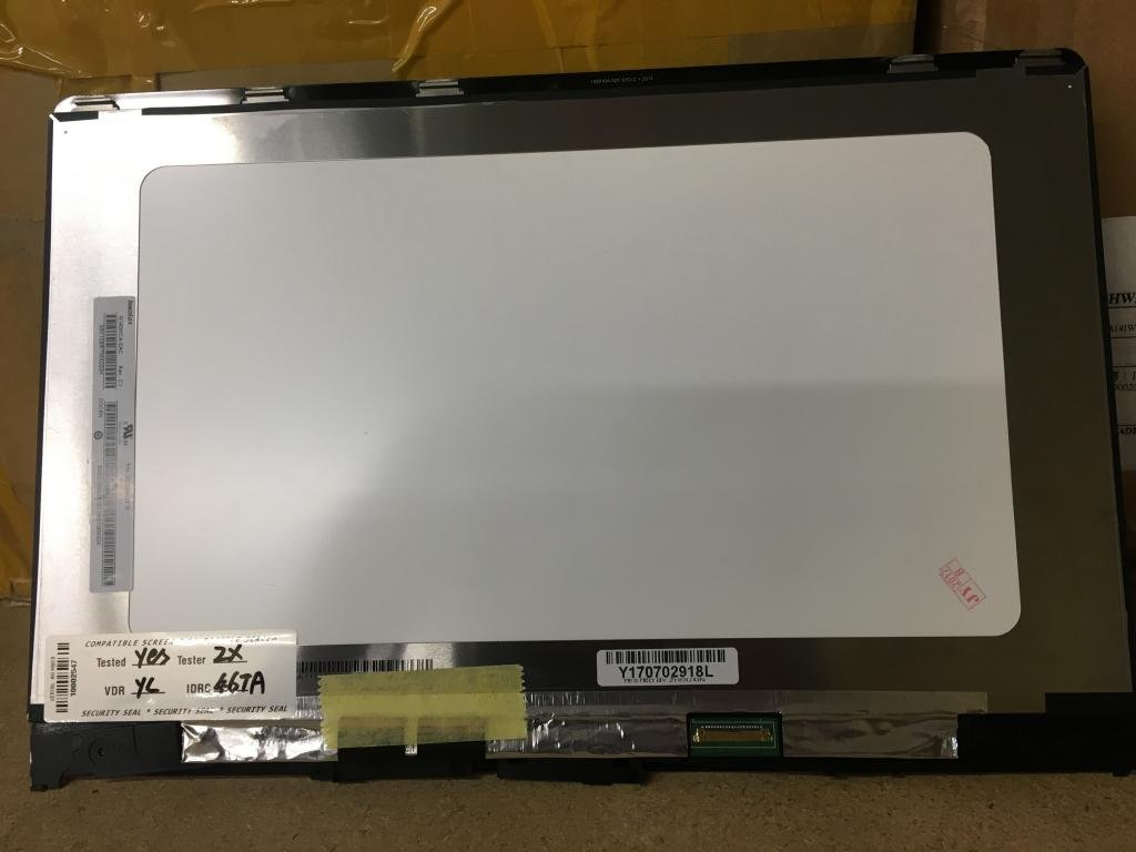 Lenovo Yoga 710-14IKB 80V4 710-14ISK 80TY 710 14'' Touch Digitizer, 14.0'' IPS FHD LCD and Bezel Display Assembly p/n: 5D10L47419 LP140WF7 (SP)(B1) by For Lenovo