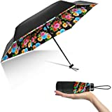 GIWOX Small Travel Umbrella Ultra Light (0.48 lb) 95% Anti UV Sun Umbrella Compact ( 6.7 Inch) Tiny Folding Pocket Mini Umbrella for Women Purse Handbag
