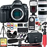 Canon EOS 5D Mark IV 30.4 MP Digital SLR Camera with EF 70-200mm f/2.8L USM Lens + 128GB SDXC Memory Card & Microphone Deluxe Filter Bundle