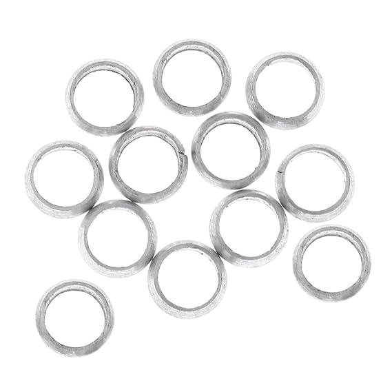 12 × Dart Sharft Flights O Rings Spare Gripper Ring Aluminum Washers Red