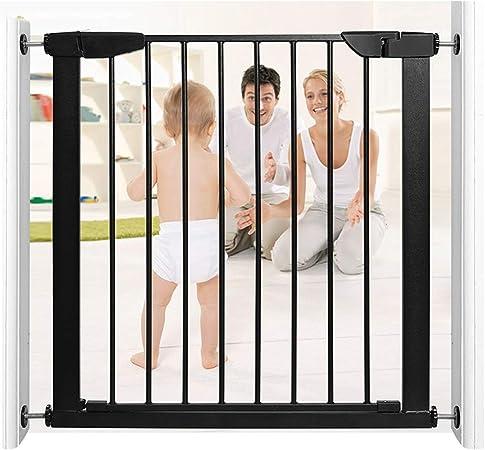 Valla Seguridad Barreras de puerta Pet Door Bar Bebé Puertas De Seguridad For El Vallado Escaleras Libres De Perforación Perro Barrera Barandilla Perro Chimenea Interior Jaula De Perro De Escalera Bar: Amazon.es: