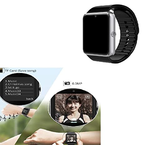 Smartwatch con Whatsapp, Blutooth Smart Watch Pantalla táctil, GT08 Reloj inteligente con la máquina