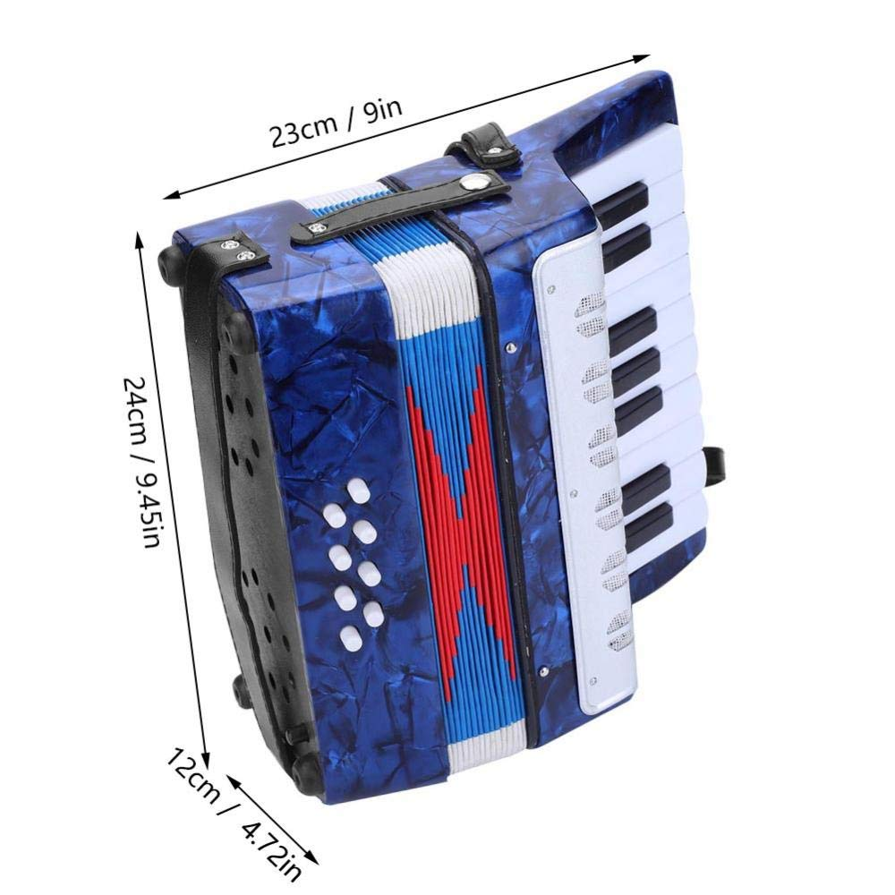 Children Accordion, Mini 17-Key 8 Bass Piano Accordion for Kids Children Amateur Beginner(Blue) by VGEBY (Image #5)