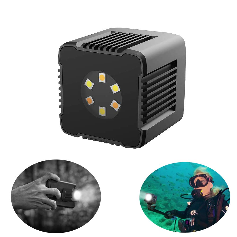 Moin Mini Cube Led Light Magnetic Charging and Mount Anywhere Pocket Light Camping Surfing Adventure Lighting Waterproof Underwater Diving Light APP Control for DSLR Drone Action Camera Smartphone