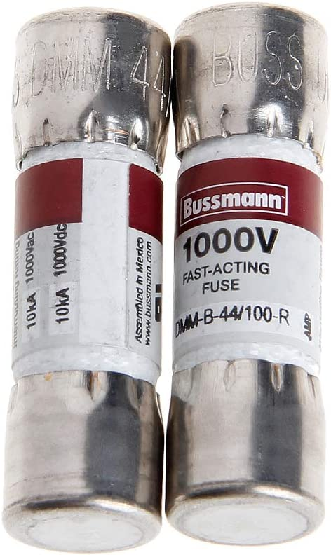 2 Unidades, 10 x 35 mm, 44MA, 1000 Vac//DC Fusible para mult/ímetro Fluke Bussmann Ycncixwd DMM-B-44//100