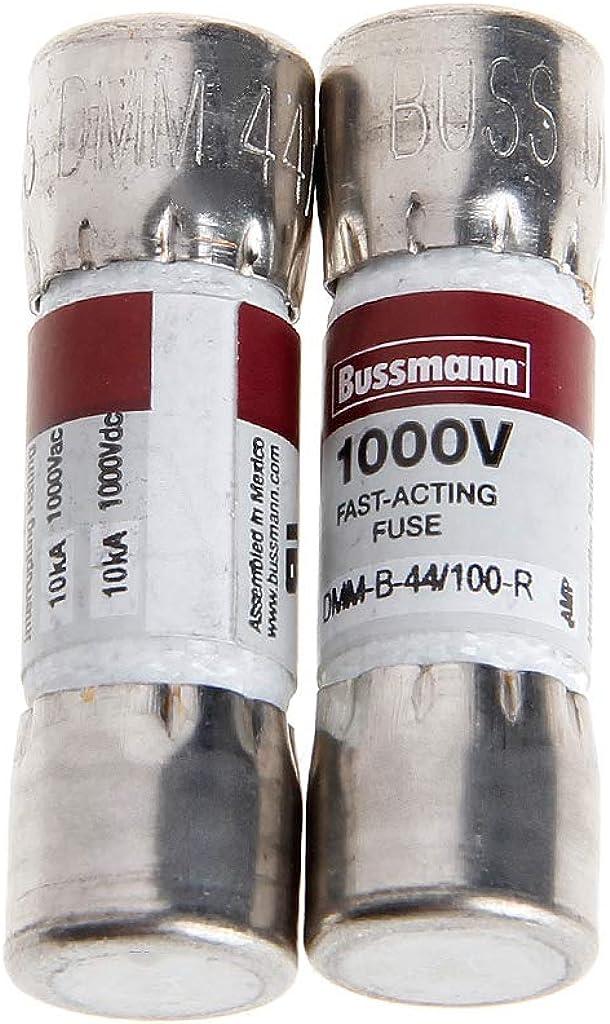 Wanfor 2 x Bus-Sicherung f/ür Fluke Multimeter BUSSMANN DMM-B-44//100 10 x 35 mm 44MA 1000VAC//DC