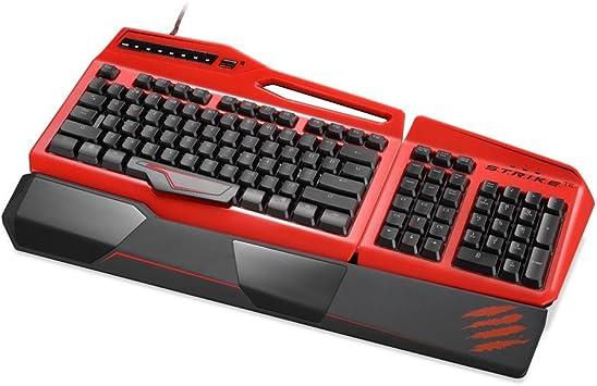 Mad Catz STRIKE - Teclado Gaming (USB), Rojo -Teclado QWERTZ Alemán