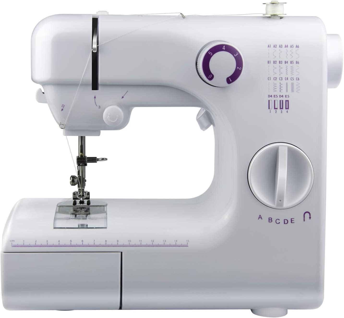 Easy Operation Fabric Sewing ALOOK Sewing Machine Household Portable Electric Portable Mini with 19 Different Stitches Home Travel Clothing Durable DIY for Fabric