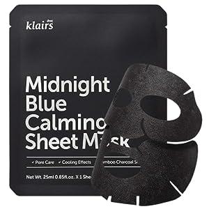 KLAIRS Midnight Blue Calming Sheet Mask 10 Sheets, K-Beauty