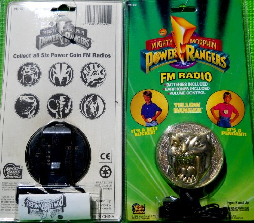 Mighty Morphin Power Rangers Coin Radio with Headphones Yellow Ranger by Power Rangers