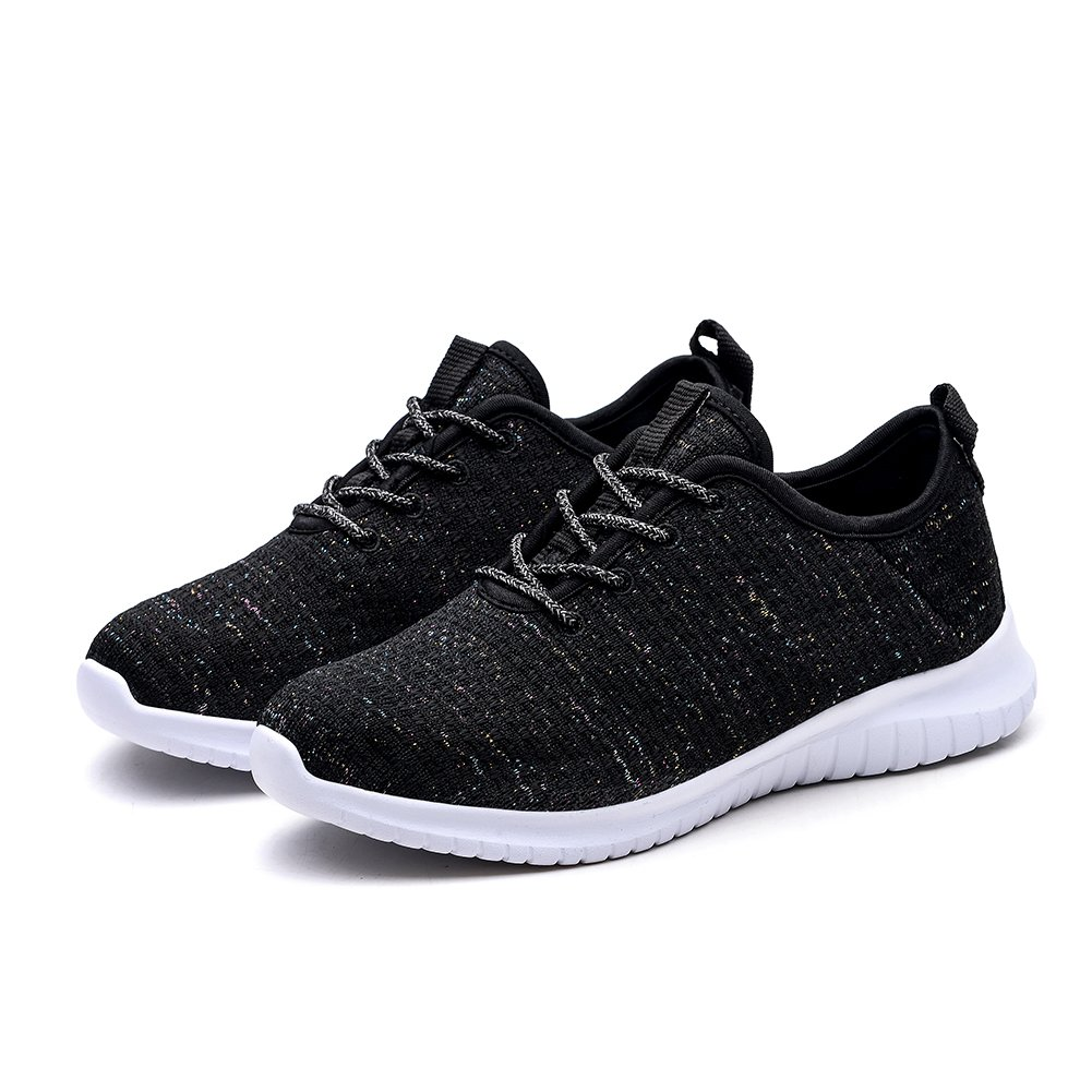 KONHILL Women's Tennis Casual Walking Shoes - Lightweight Casual Tennis Athletic Sport Running Sneakers B079LY5X4B 6.5 M US|2111 Black c7597b
