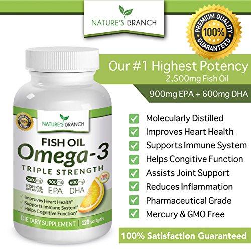 Best triple strength omega 3 fish oil pills 2500mg for Best omega 3 fish