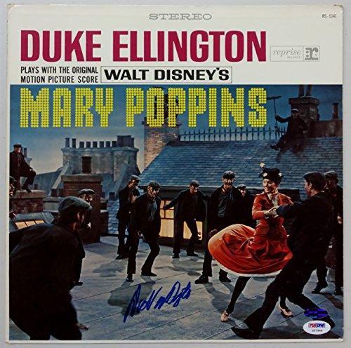 - Dick Van Dyke Signed 1964 Duke Ellington Plays With The Original Motion Picture Score Walt Disney's Mary Poppins Record Album Sleeve PSA/DNA X07948