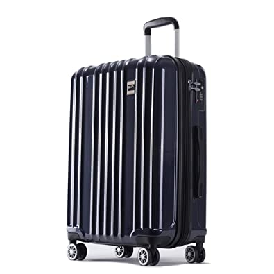 019ceb71c0 AKTIVA スーツケース 軽量 ファスナー TSAロック搭載ハードケース (中型、Mサイズ,