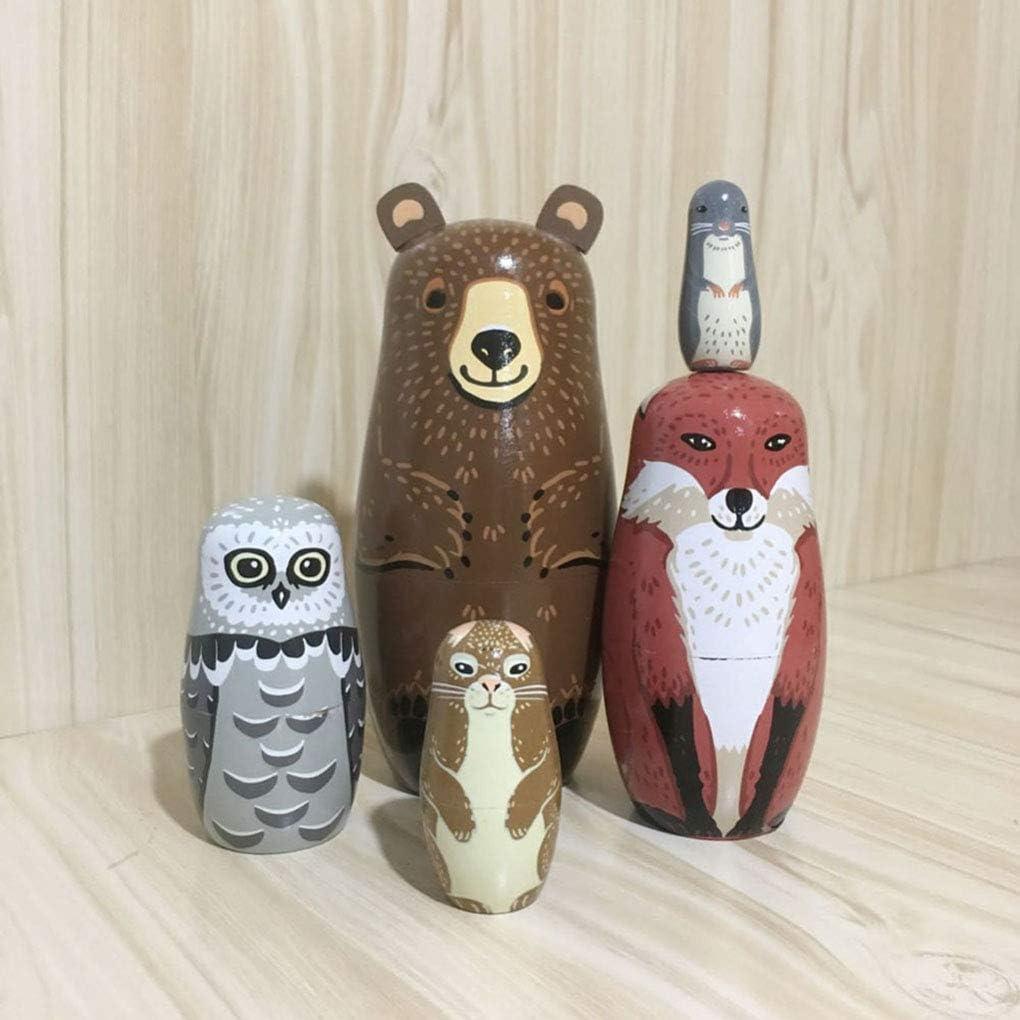 Ben-gi 10pcs Filles Poup/ées Russes Peint /à la Main Basswood Jouets pour Enfants Cadeaux Matriochka Nesting Poup/ées en Bois