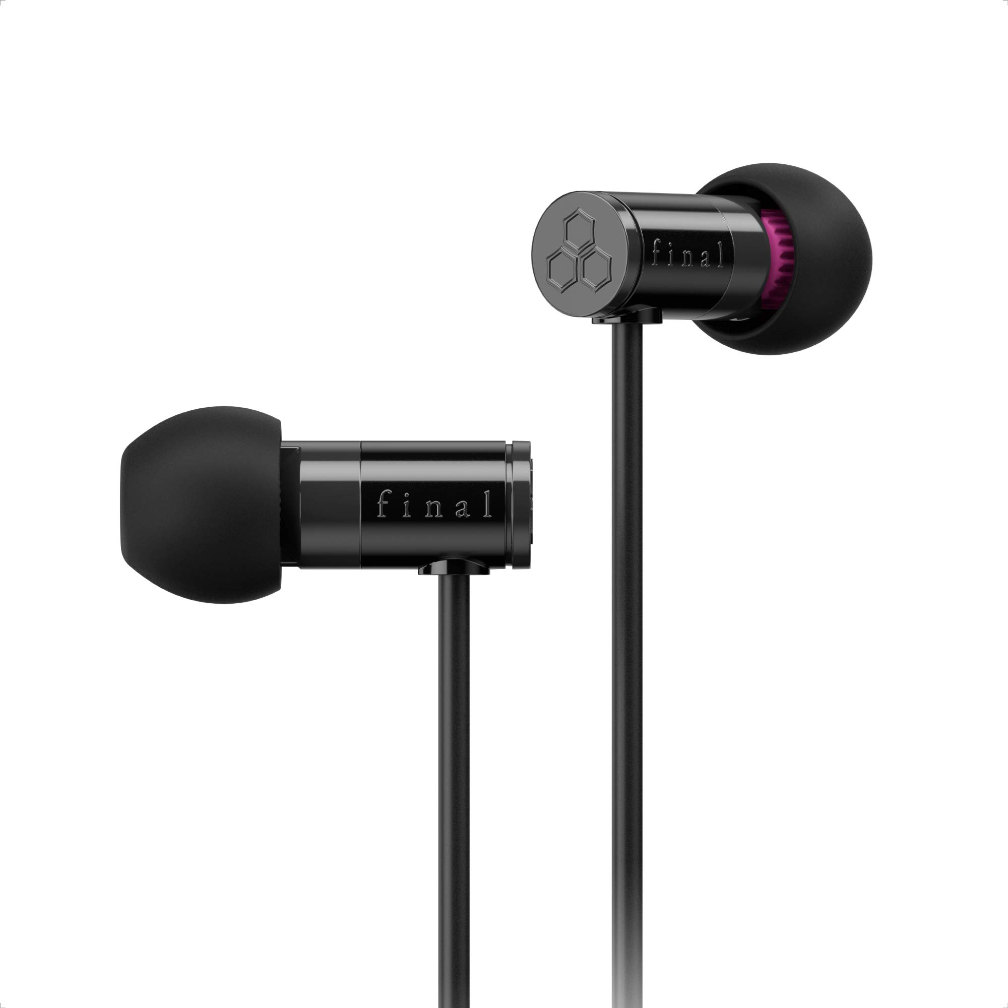final E1000 In-Ear Isolating Earphones - Black, Designed in Japan