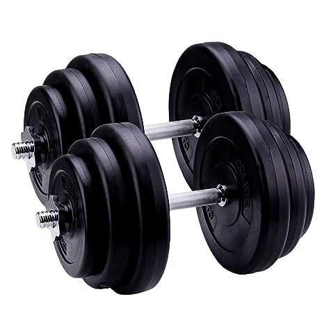 CCLIFE 40 kg Ajustable Plástico Pesas Mancuernas de Fitness Pesas ...