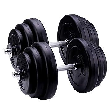 CCLIFE 40 kg Ajustable Plástico Pesas Mancuernas de Fitness Pesas