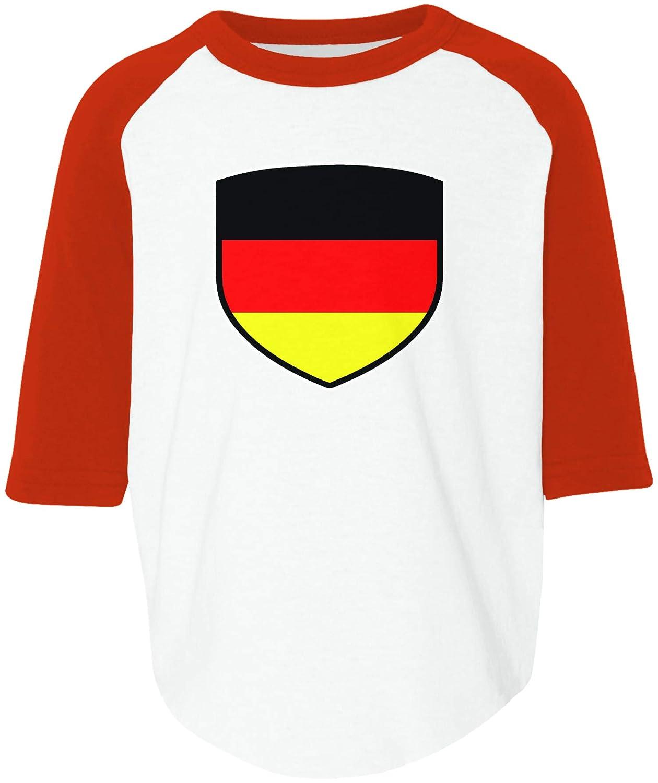 Amdesco Germany Shield German Deutschland Flag Toddler Raglan Shirt