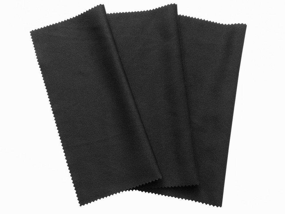 3x Mikrofaser Reinigungstücher 20x19cm, Tücher in schwarz zum reinigen von Touchscreen, Smartphone Display, Tablet PCs, Brillen, Notebook, Laptop, Reinigung von iPhone, iPad, Objektive, Monitor, Bildschirm LED, Kamera - Displaytuch XAKii 4054102346159
