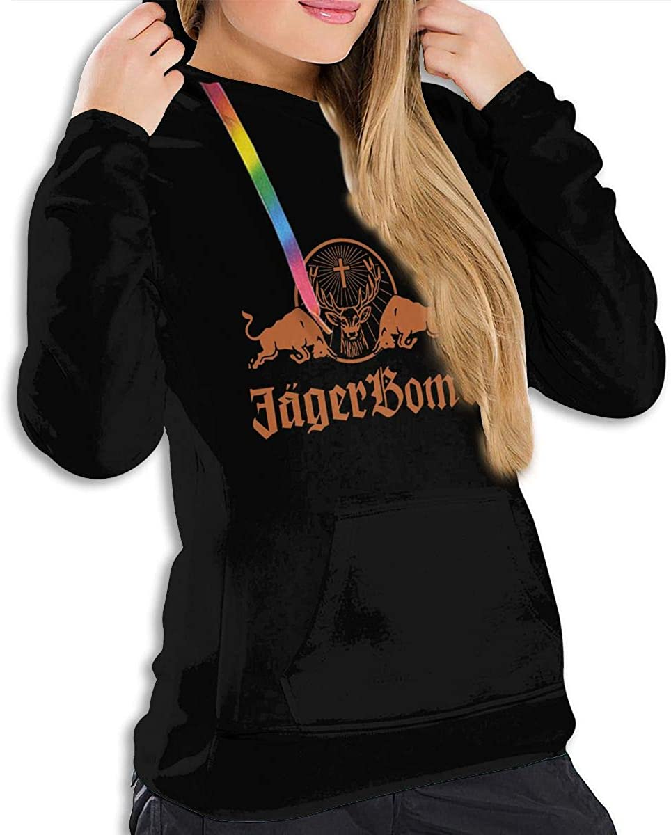 AP.Room Ladies Long Sleeve Fashion Jagermeister Hoodie Pullover