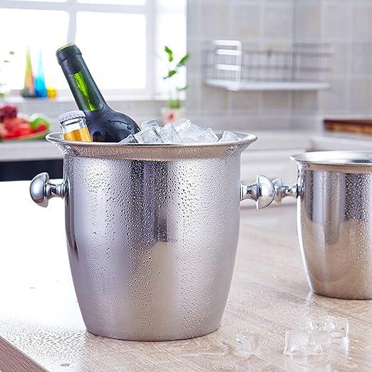 Compra YZBT-ice bucket Vino Cubitera con Pinzas, Acero ...
