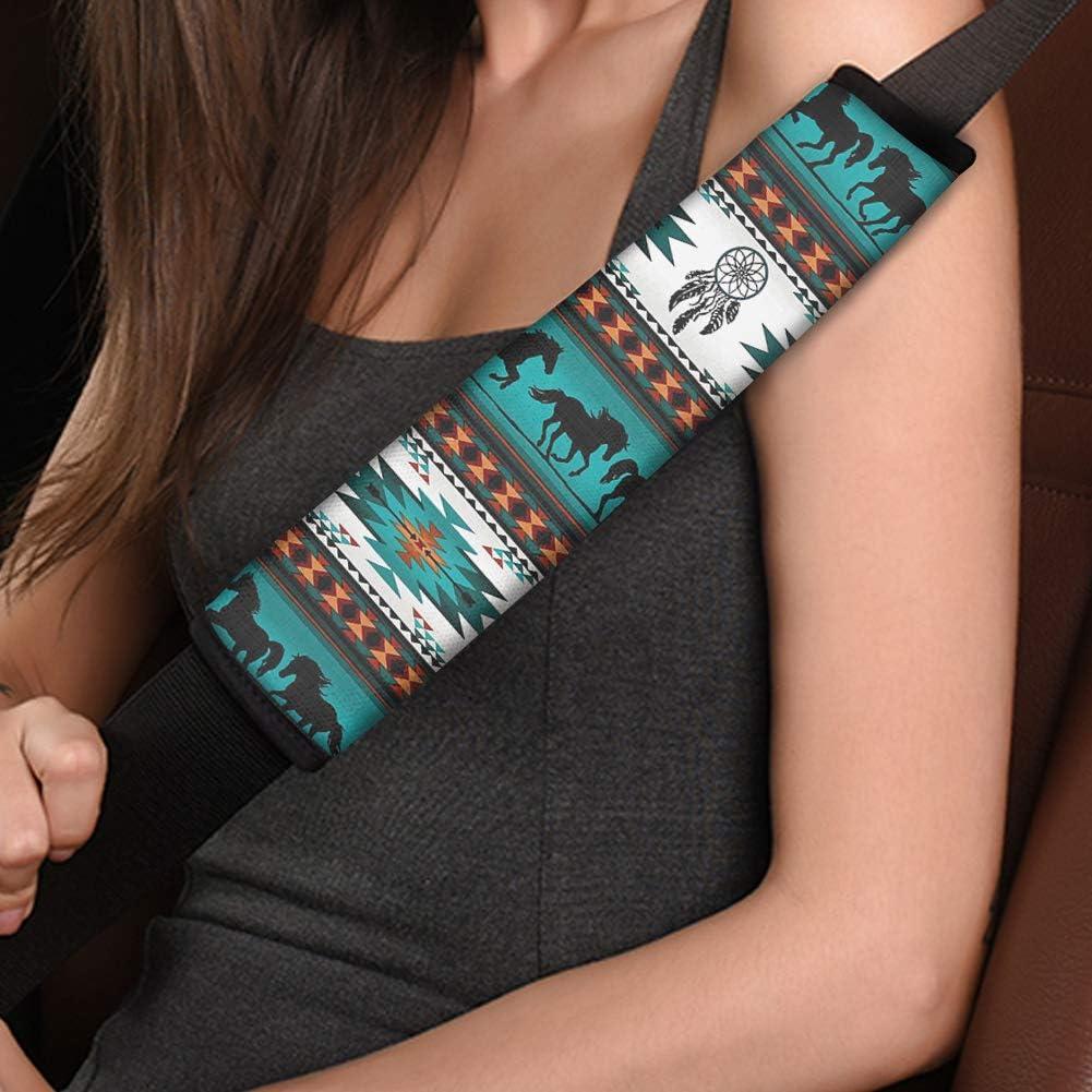 FUIBENG Hawaiian Sea Turtle Print Car Seat Covers//Steering Wheel Cover//Front /& Rear Floor Mats//Seatbelt Pads//Armrest Lid Cover Full Set of 10 Universal Car Combo Set