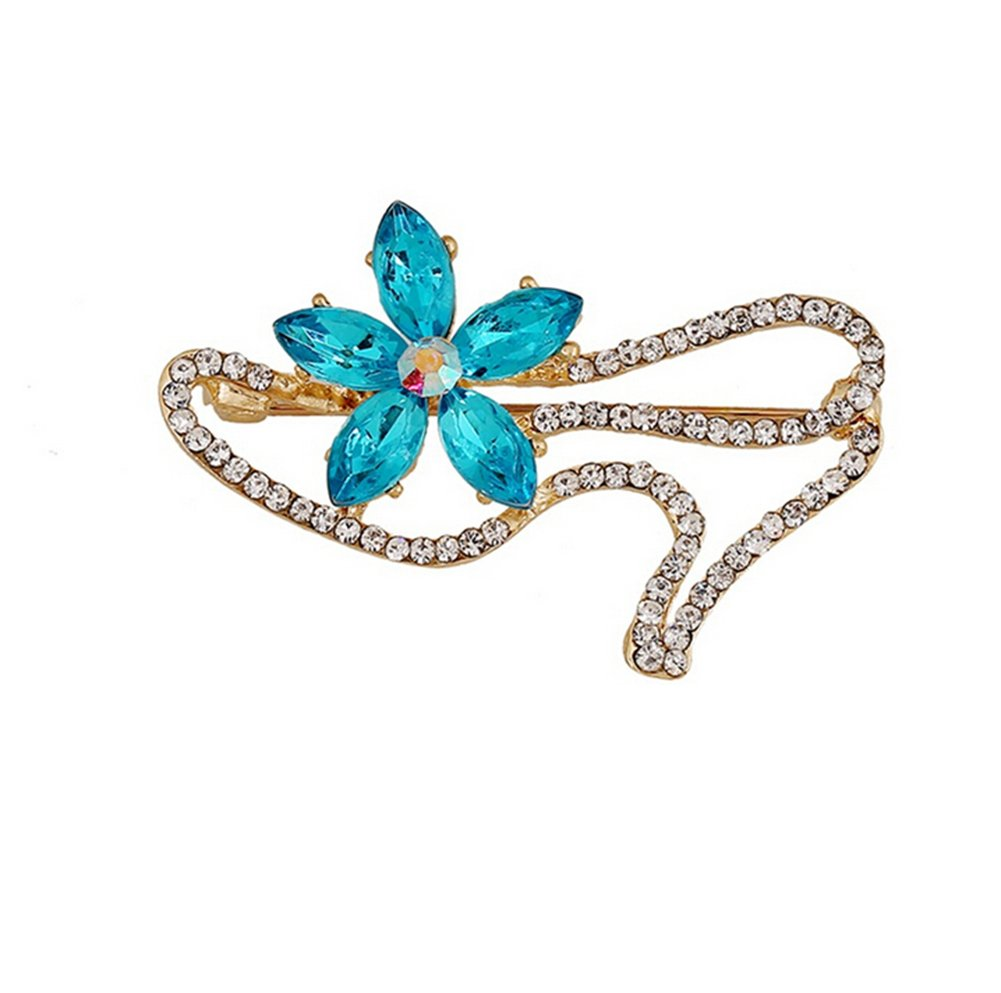 Hosaire Women's Fashion Jewelry Girl's High-heels Brooch Pin With Rhinestones And Crystal Flower