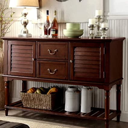Amazoncom Highboard Sideboard Dark Brown Cabinet Tv