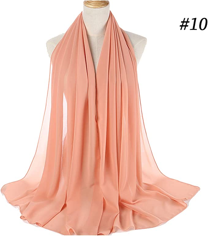 Women Plain Bubble Chiffon Scarf Hijab Wrap Printe Solid Color Shawls Hijabs Scarves Scarf 47 Colors Color 2 Amazon Co Uk Clothing