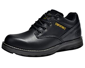 Insun Men's Black Cowhide Leather Oxford Work Shoes 6.5
