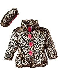 Baby Girls' Leopard Printed Jacket and Hat