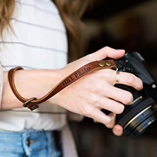 product image for The Film Strap Personalized Leather Camera Wrist Strap