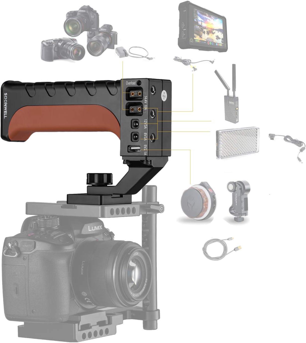 SOONWELL D-Tap Travel Charger for PH70 Power Handle V-Mount//V Lock//Gold Mount Batteries
