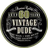 vintage dude 60 - Vintage Dude 60th Birthday Dessert Plates, 24 ct