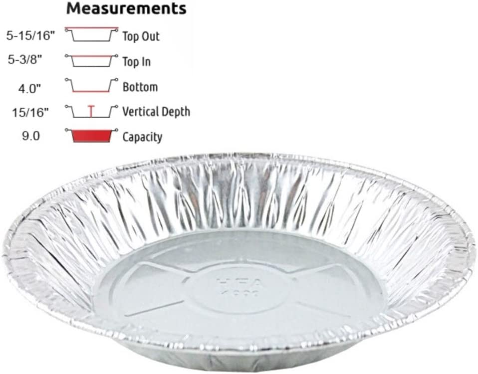 "Pactogo 6"" Aluminum Foil Mini Pie Pans - Disposable Small Baking Tin Plates (Pack of 10)"