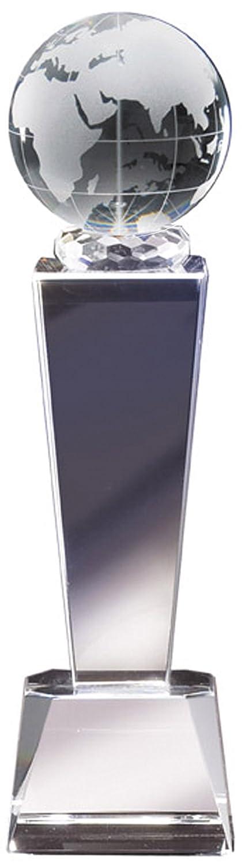カスタマイズ可能な光学式クリスタルGlobe列Trophy , Includes Personalization B072FJ9835