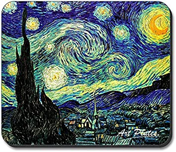 Amazon Com Art Plates Brand Mouse Pad Van Gogh Starry Night Electronics