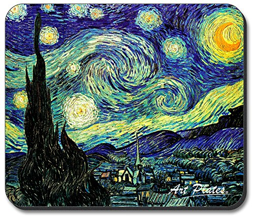 Art Plates brand Mouse Pad - Van Gogh: Starry Night