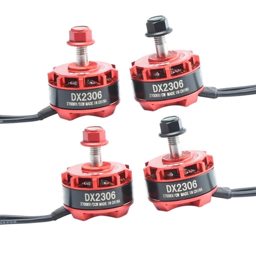 MagiDeal 4pcs 2700KV Brushless Motors CW+CCW for X210 X220 250 280 FPV Racing Drone