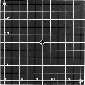 220mm W/ärme Bett Aufkleber Blatt Hot Bed Platform Build Oberfl/äche Band mit 1 1 koordinate f/ür 3D Drucker Anet A6//A8 Aibecy 220
